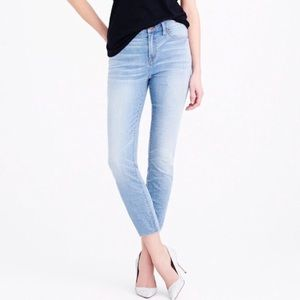 J. Crew Lookout High Rise Crop Light Wash Jeans